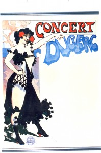 Concert Duclerc Lithograph Artist Unknown