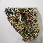 Acrylic, pearls, costume jewelry, wood, Formica. Collection of Jimmy Wright